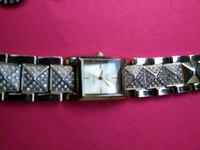 square silver-colored analog watch with link brace West Covina, 91791