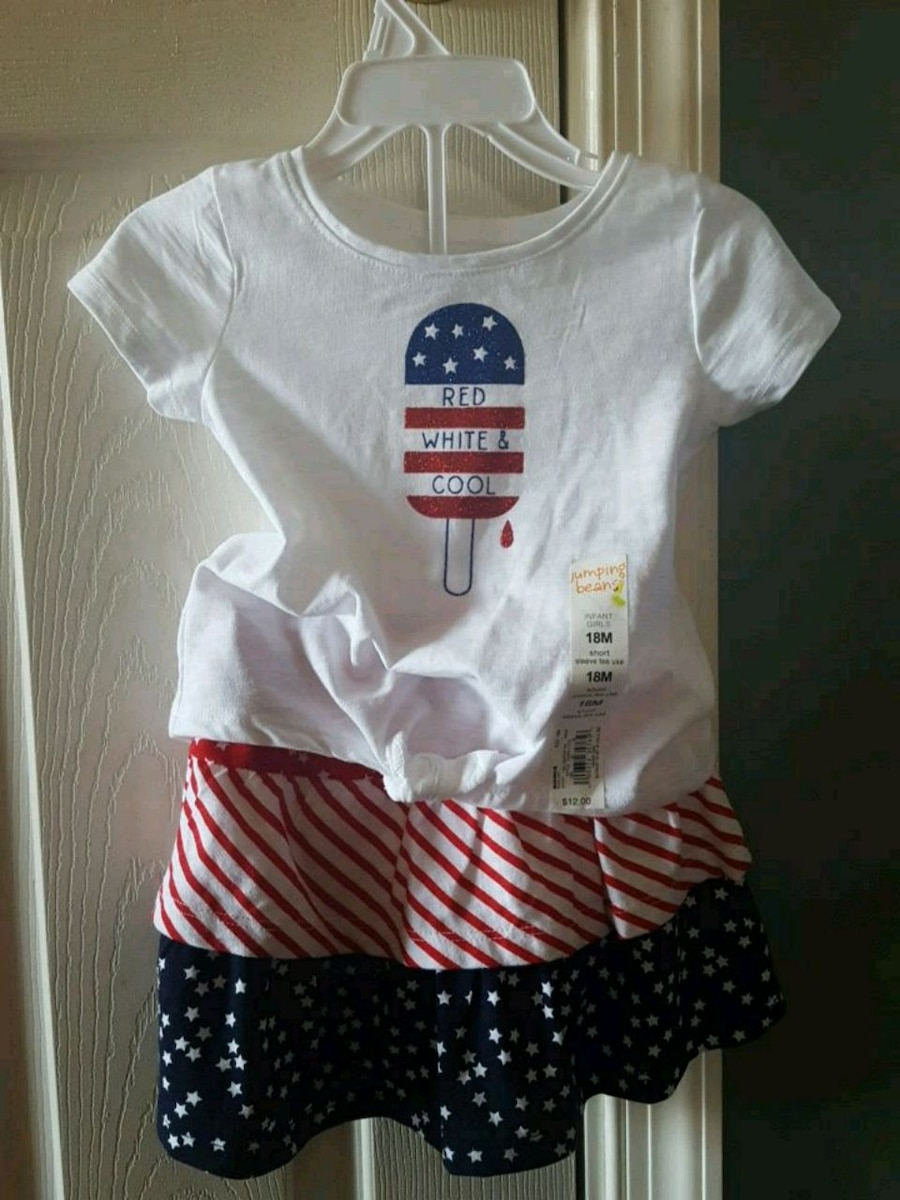 Photo Girls 18 Month Patriotic shirt and skirt