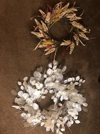 White shell wreath and a fall wreath Bossier City, 71111