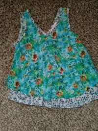 white, green, and pink floral sleeveless top Brawley, 92227