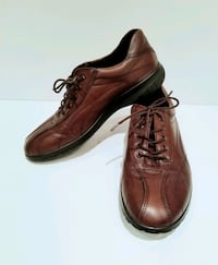 Ecco Women's Brown Leather Oxford Shoes - Size 37