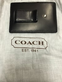 Coach Leather Money Clip with Credit Card Holder, Brand New Chantilly, 20151