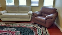 Pure leather two peace sofa  Brand New Surrey