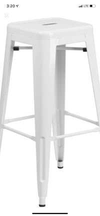 Set of 2 metal counter height stools Chicago