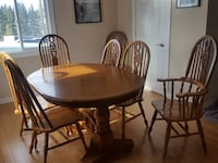 Double Pedestal Table an Chairs Calgary