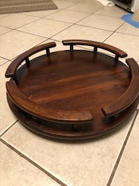We got Nice Kitchen Table Carousel all Wood. this be great for Holidays and FREE tray for your turkey Lowell, 01852
