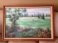 Canvas Golf Oil Painting (41x29) Manchester Township, 08759