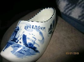 Antique Delft Porcelain Clog/shoe