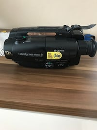 Sony handycam video camera.