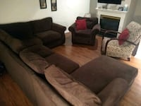 Sectional with Chaise, matching chair and recliner Pike Creek