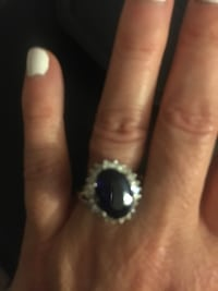 Silver with dark blue stone Searcy, 72143