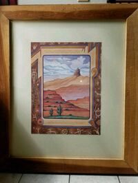 brown wooden framed painting of house Tucson, 85713
