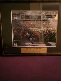 Ray Lewis 8x10 photo in frame Baltimore, 21206