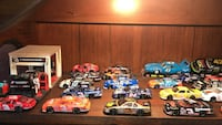 assorted NASCAR stock car scale models