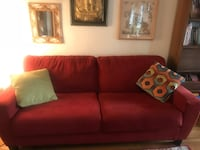 red leather 2-seat sofa Omaha, 68132