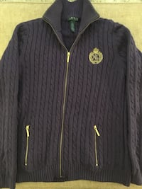 Svart ralph lauren zip-up jacka 6645 km
