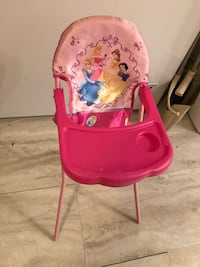 baby's pink and white high chair Montréal, H8N 1P7