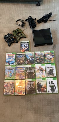 Xbox 360 console with controller and game case lot San Dimas, 91773