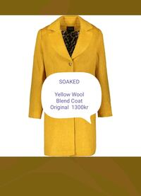 SOAKED  Yellow Wool Blend Coat   Rælingen, 2008