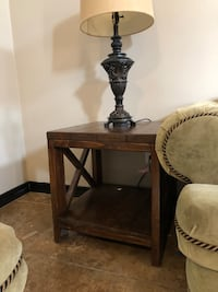(2) Side tables Solid Wood Edinburg, 78541