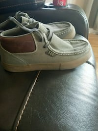pair of greenish gray high-top shoes Portage County