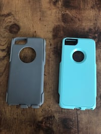 Blue and gray iphone case 767 mi