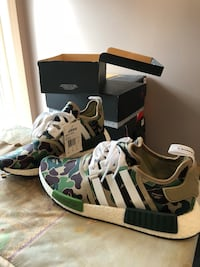 Bape NMD DS with receipt from adidas  Toronto, M3C 4C1