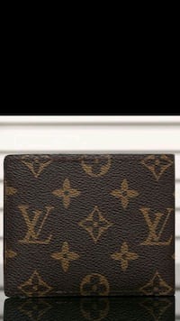 black and brown Louis Vuitton Monogram leather wal 372 mi