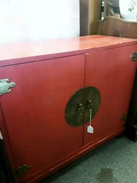 red and black wooden cabinet Odenton, 21113
