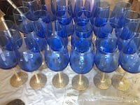 Party Blue and gold glass Roseville, 95678