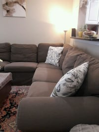 Ikea gray fabric sectional sofa 8 km