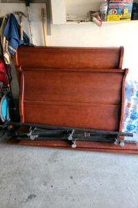 Sleigh double bed frame