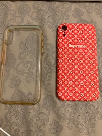 iPhone XR Supreme Louis Vuitton Case and one clear case Los Angeles, 91344