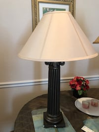 white and brown table lamp Windermere, 34786