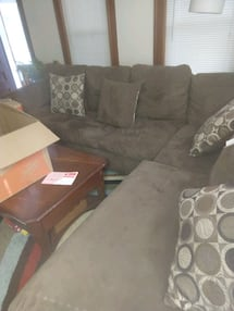 Brown sectional sleeper sofa