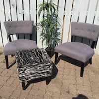 Grey Midcentury Chairs - only used in staging! Calgary, T3B 3M4
