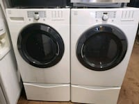 white front load washing machine and dryer set Peoria, 61602