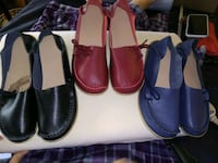 pair of black and red leather loafers Albuquerque, 87102