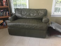 Leather couch and storage ottoman by Ethan Allen  Bethlehem, 18015