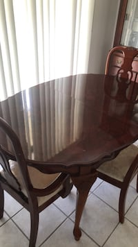 rectangular brown wooden table with six chairs dining set Jacksonville, 32218