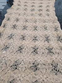 Laced table cloth