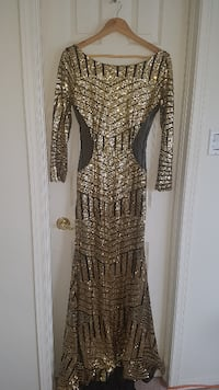 Black and gold dress  null