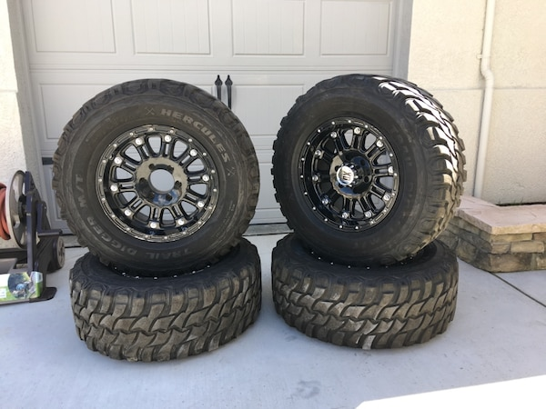 Used Mud Tires For Sale >> Used 33x12 5x17 Xd Series Hoss Wheels And Mud Tires For Sale In
