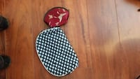 red and white polka dot print pouch Vancouver, V6A 3K9