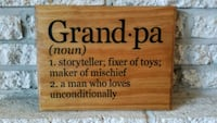 "Handmade wooden sign ""grandpa..."" Frederick, 21703"