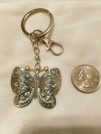 Beautiful Bling Butterfly Keychain, w Purse Clip San Antonio, 78232