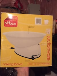 Suction base  mixing bowl. Bowl rotates