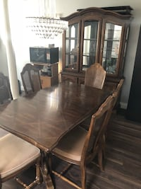 Dining Table with China Cabinet Surrey, V3W 0Z3
