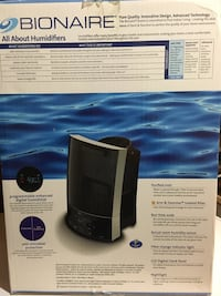 Bionaire humidifier barely used  Toronto, M3C 1X1