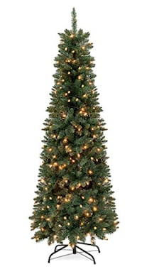 $25 6.5 ft artificial Christmas tree with lights NASHVILLE